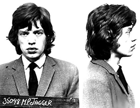 Mick Jagger, 1967 Los Angeles, Calif. Charge: narcotics-related