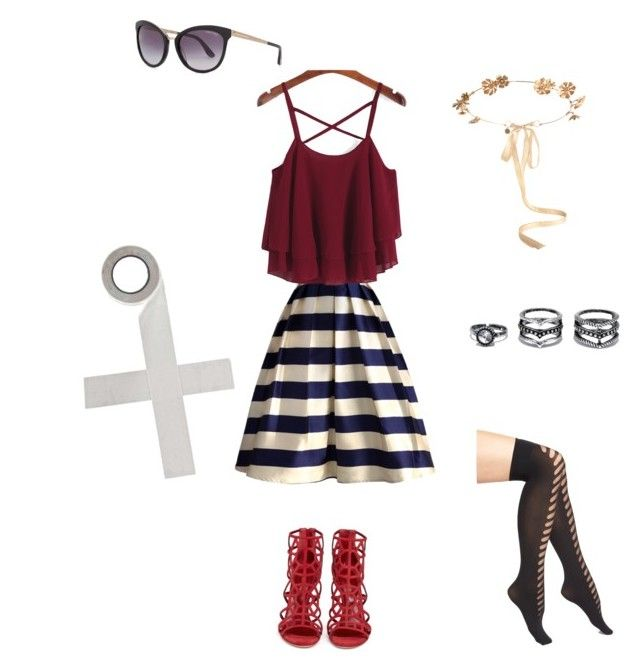 """Red Glory"" by accio1976 ❤ liked on Polyvore featuring OROBLU, Lulu*s, Chicwish, Sergio Rossi, Eugenia Kim, Tom Ford and Boohoo"