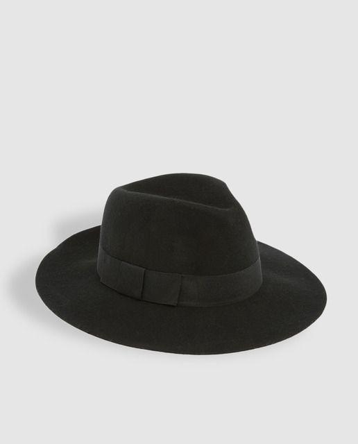 Sombrero negro de ala ancha Sombreros Negros 22ed44b875a