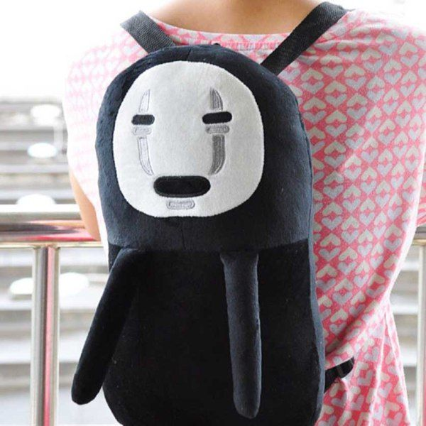 This little guy may look a bit scary, but he's actually just misunderstood! Wherever you choose to go, you'll be able to tote around your gear with thisNo Face backpack. He makes excellent company and a great addition to your daily outfit!