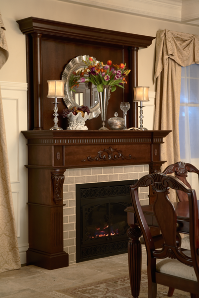 Fireplace Surround Topper Columns And Stacked Molding All From Medallion Cabinetry Fireplace Surrounds Fireplace Makeover Building A House