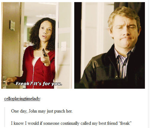 I love John's face every time someone is mean to Sherlock  It just