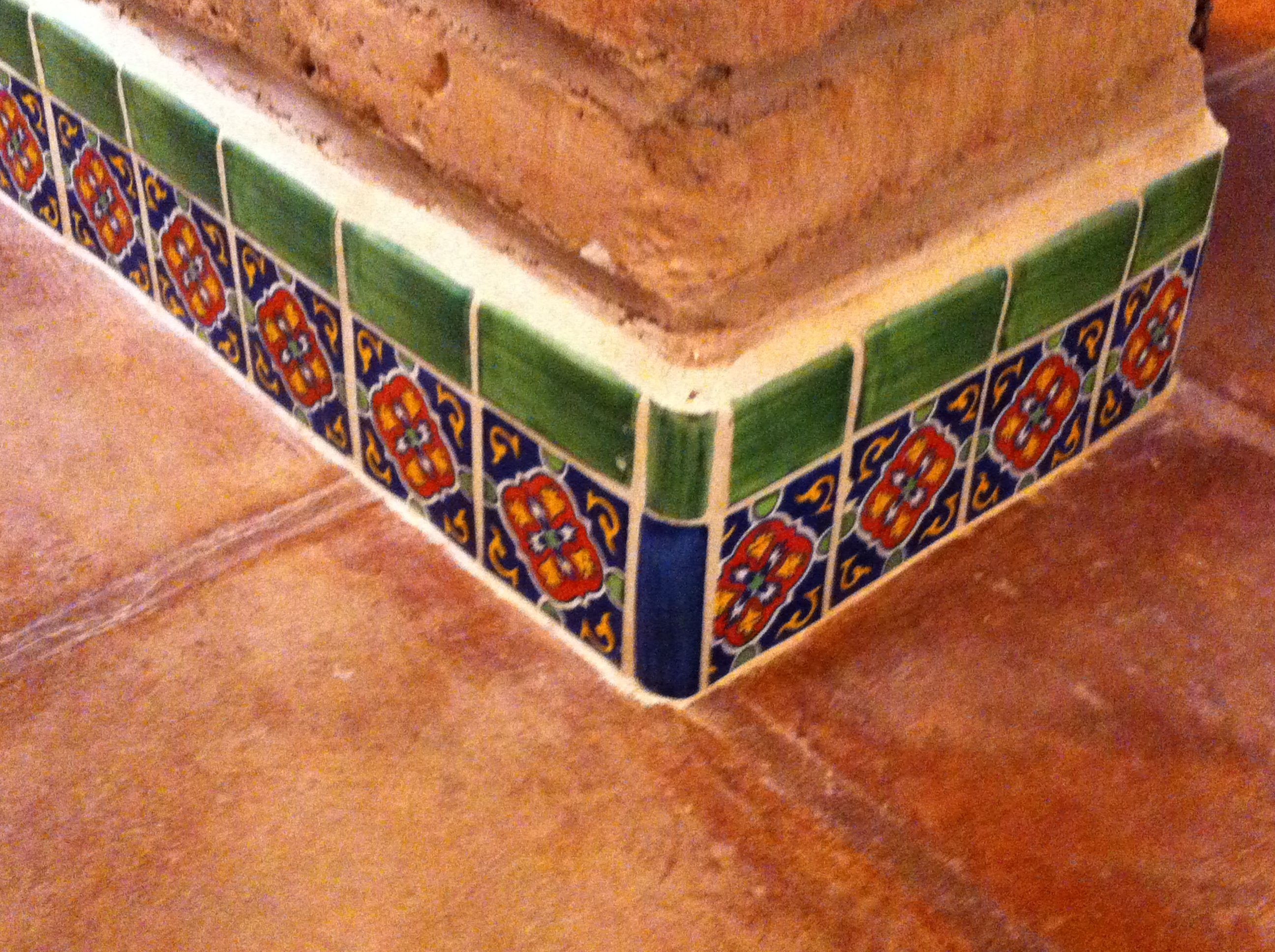 Mexican tile baseboard house decor pinterest baseboard mexican tile baseboard dailygadgetfo Image collections