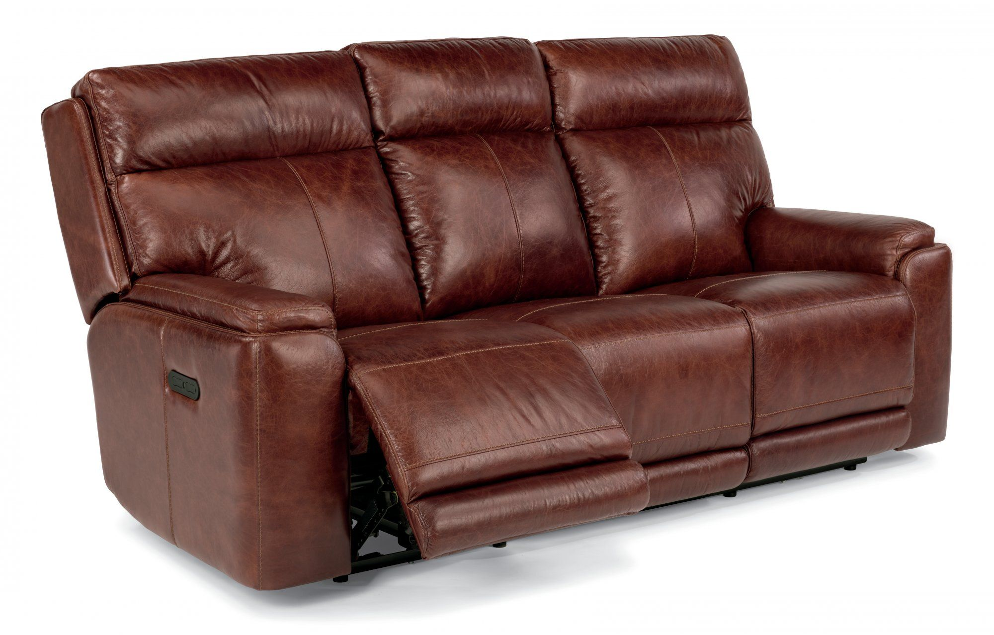 - Gorgeous Leather Sofa With Recliner Built In , Amazing Leather