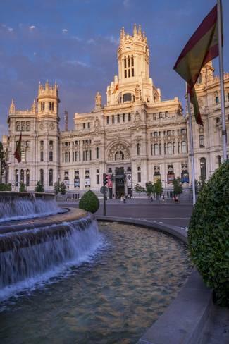 Photographic Print Plaza De Cibeles Palace Palacio De