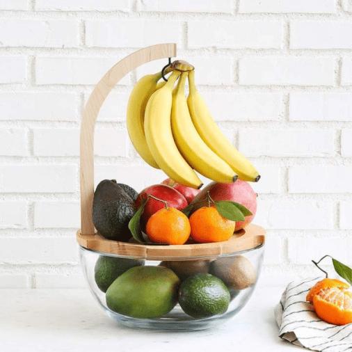 Amazing Fruit Bowl With Three Different Functions To Keep Your Fruit Fresher For Longer Zerowaste Plasticfree Kitchenstorage Ripe Fruit Fruit Fruit Bowl