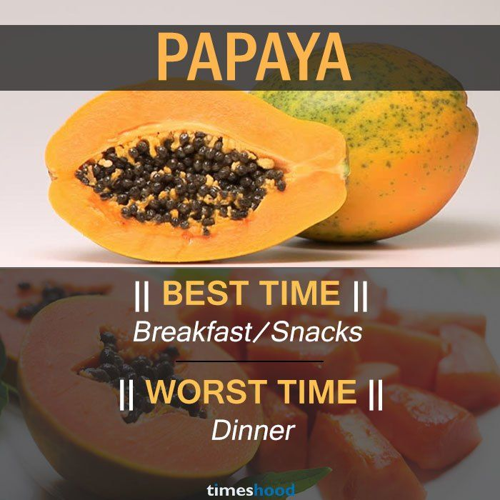 When To Eat Papaya Best And Worst Time To Eat Papaya And Some Common Fruits Right Time To Eat Fruits Best Time To Best Time To Eat