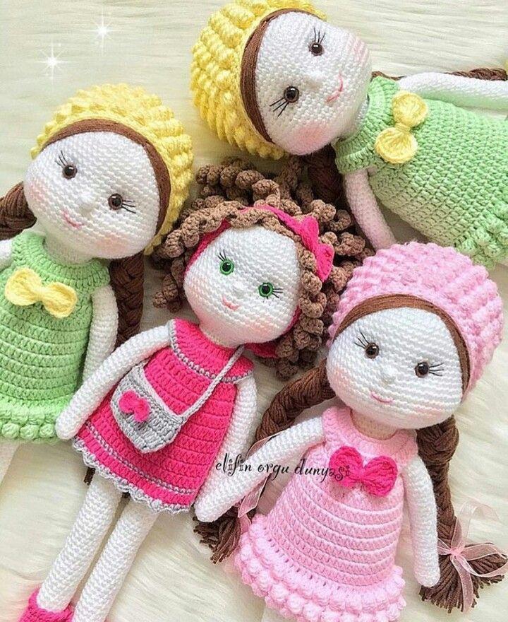Pin de Ximena Galvis en muñecas | Pinterest | Muñecas, Amigurumis ...