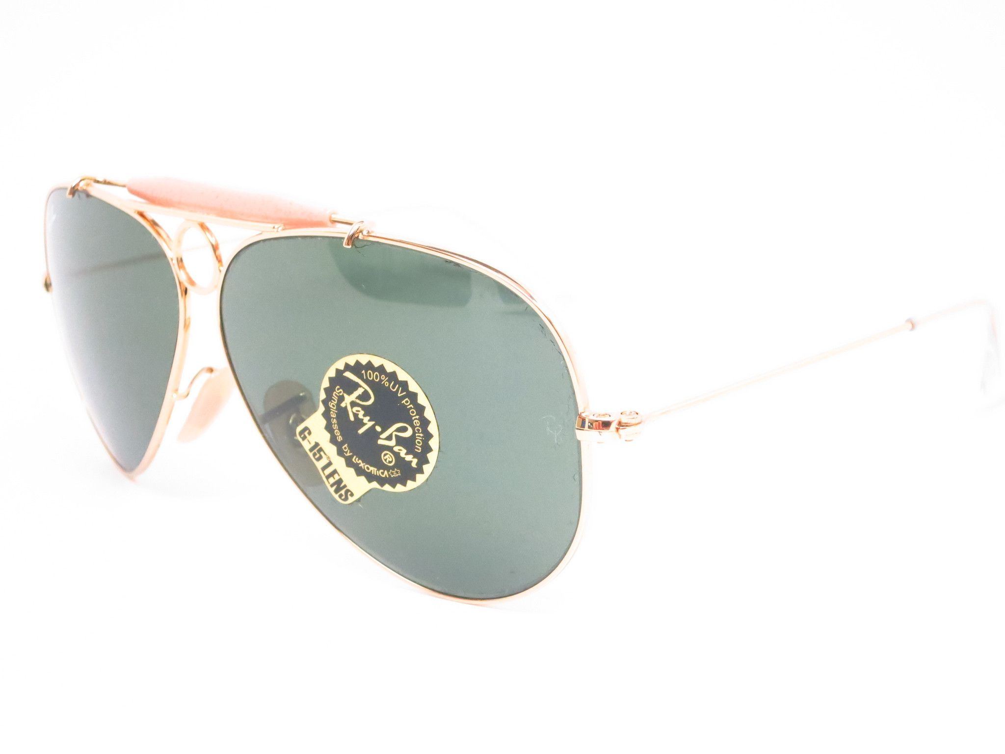 a02d05cf8f New RAY BAN Sunglasses AVIATOR SHOOTER Gold RB 3138 001 Glass G-15 Lenses  58mm