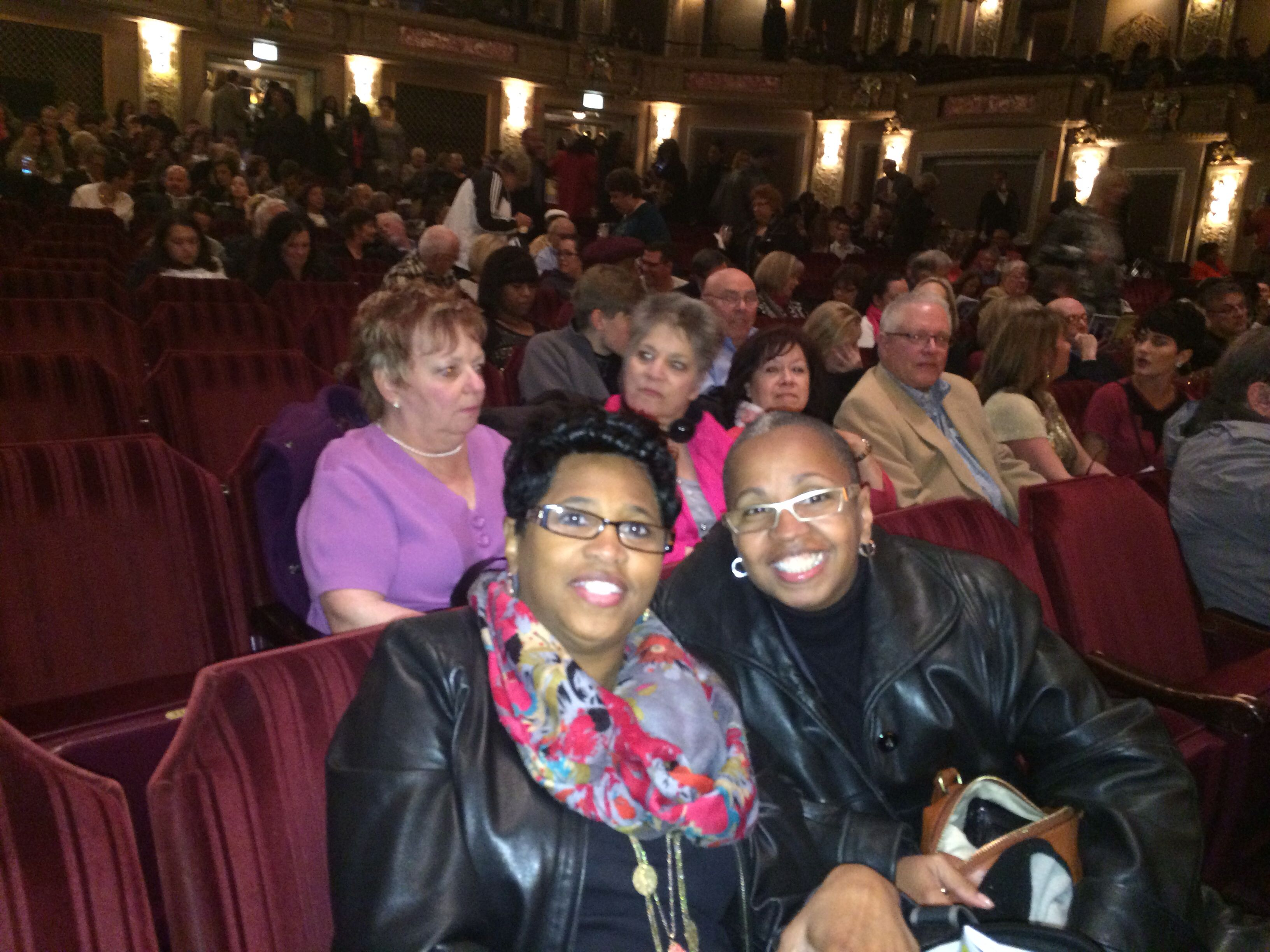 My sister Cathy & I at Motown the Musical-Chicago,IL. What a blast!! My Sista is amazing!!#luvmysista