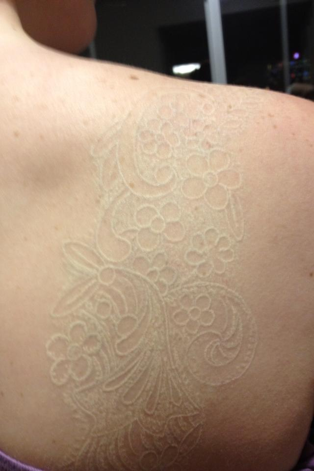 25+ Beautiful White Ink Tattoos That You Will Love It in