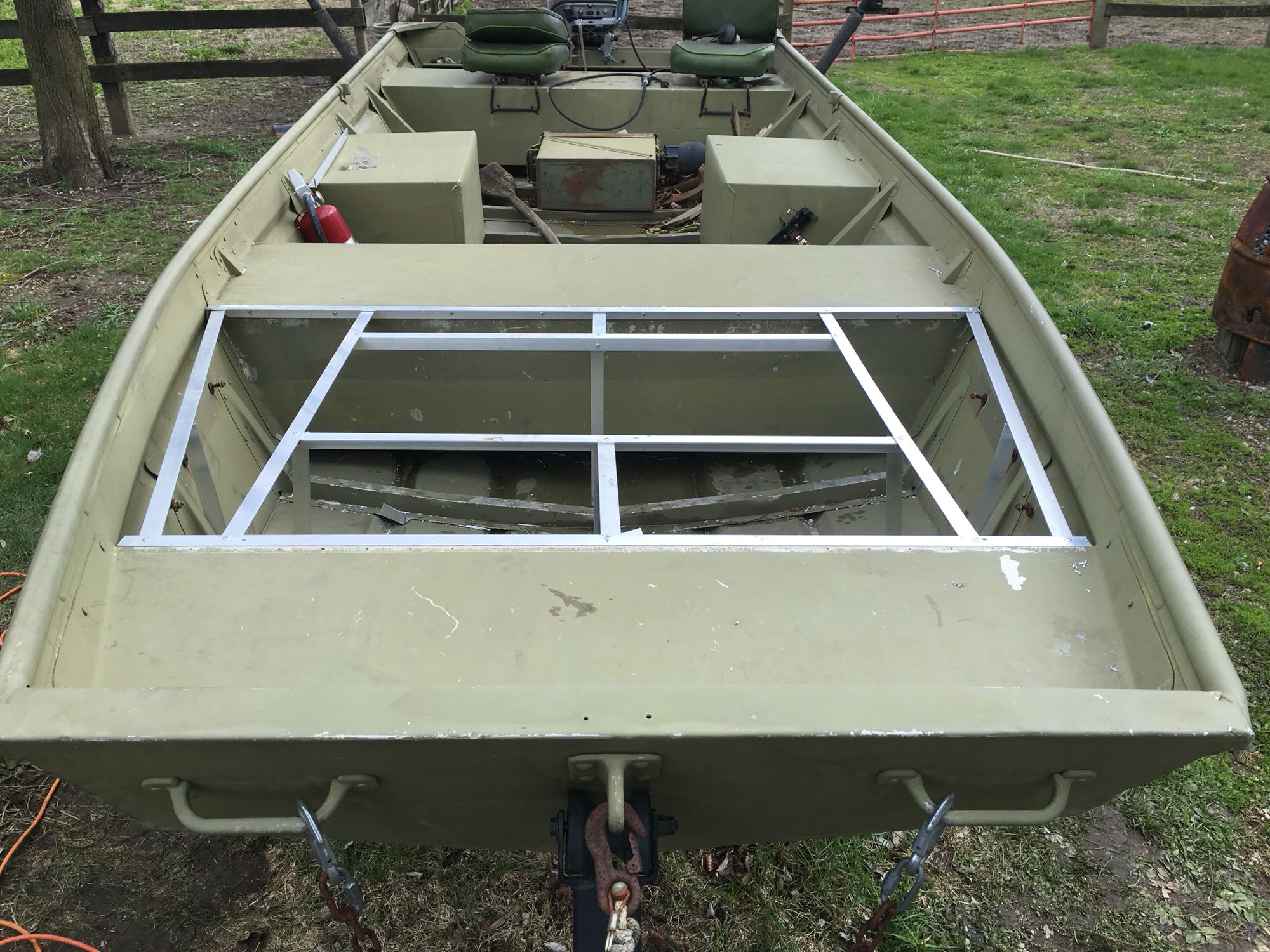 My Jon boat build | Boat stuff | Pinterest | Boat building, Boating ...