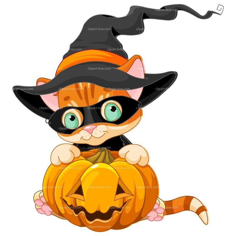 CLIPART HALLOWEEN CAT | Royalty free vector design | Pet Vector ...