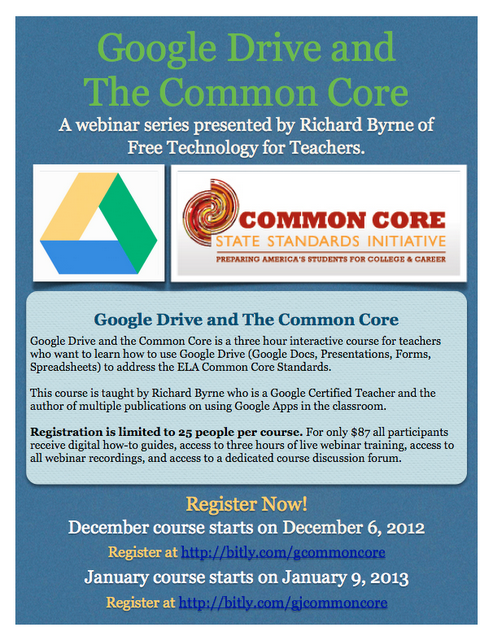 New Course - Google Drive and the Common Core | Free Technology for