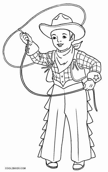 printable cowboy coloring pages for kids cool2bkids - Cowboy Cowgirl Coloring Pages
