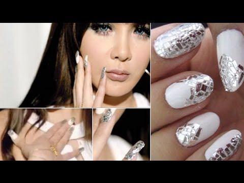 2NE1 Park Bom Inspired Nails - Falling in Love MV ... Dara Falling In Love Nails