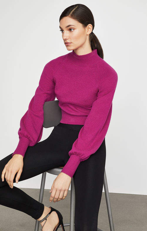 4258ba7f6a1 BCBGMAXAZRIA Turtleneck Cropped Sweater