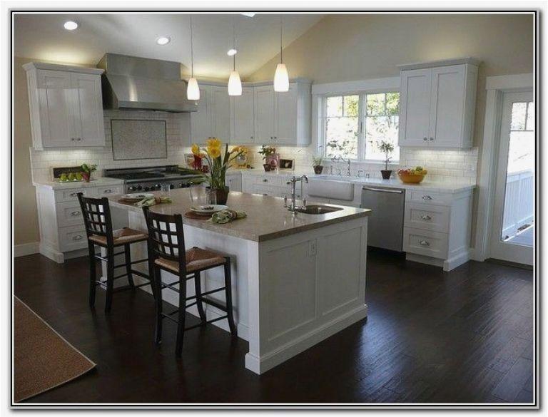 White Kitchen Dark Floors Luxury White Shaker Kitchen Cabinets