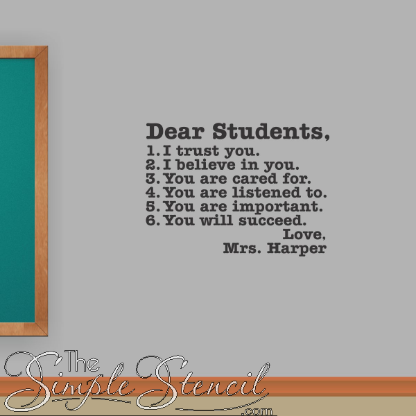Classroom And School Wall Quotes