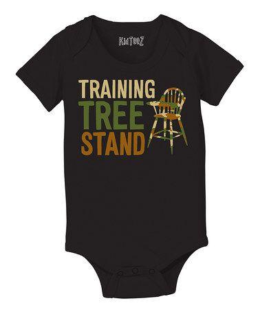 Look at this #zulilyfind! Black 'Training Tree Stand' Bodysuit - Infant #zulilyfinds