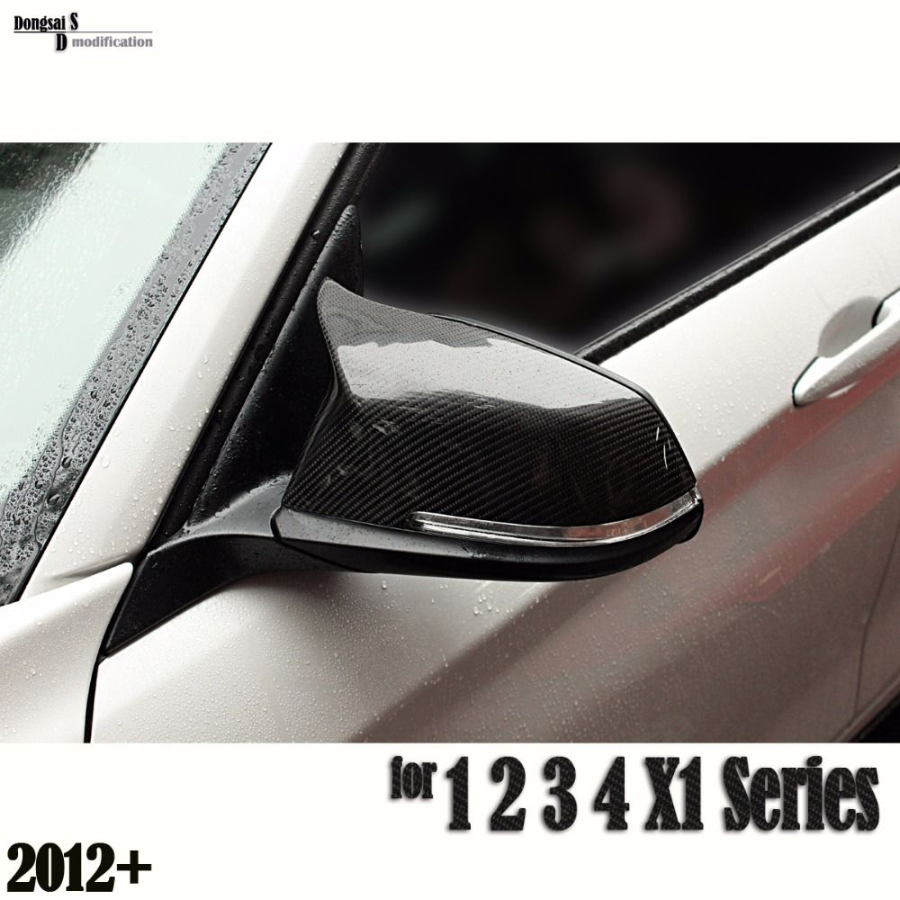 Carbon fiber door side wing mirror covers for bmw 1 2 3 4 x1 series f20
