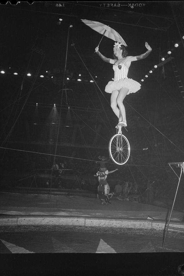 Tightrope Walker Rolling Lol On A Unicycle