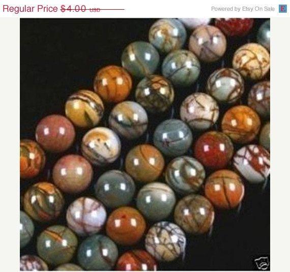 "10 Mm Picasso Jasper Stone Round Ball Loose Beads 15/"""