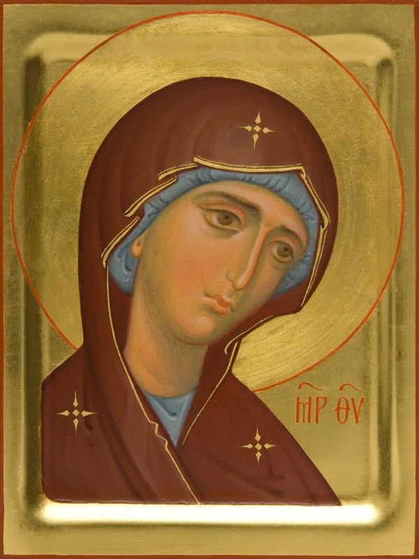 Deesis icon of the Mother of God - Hand-Painted Icon from the Workshop of St. Elisabeth Convent - To learn more about our Icon Painting Studio: http://catalog.obitel-minsk.com/icon-painting #CatalogOfGoodDeeds #Orthodox #Icons - #OrthodoxIcons #Orthodoxy, #Theotokos, #VirginMary, #Miracle, #Blessed #Faith #Handpainted
