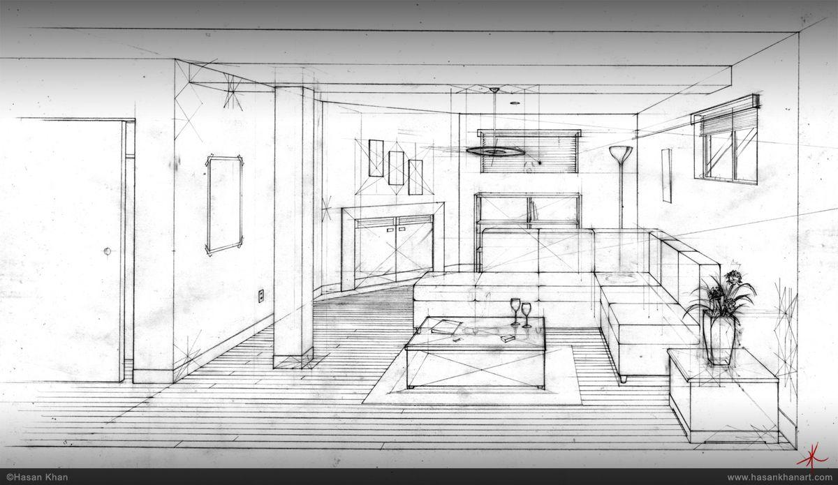 Hasan Khan Technical Drawing Room Interior