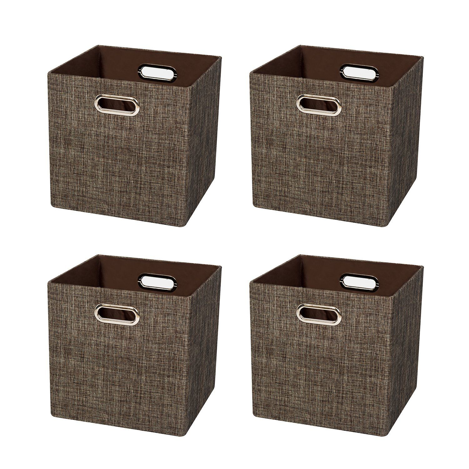 Posprica Cube Organizers Storage Bin Basket Boxes Container Cabinet Drawer For Bedroom Closet Toys Laundry 4 Cube Storage Collapsible Storage Cubes Cubby Bins