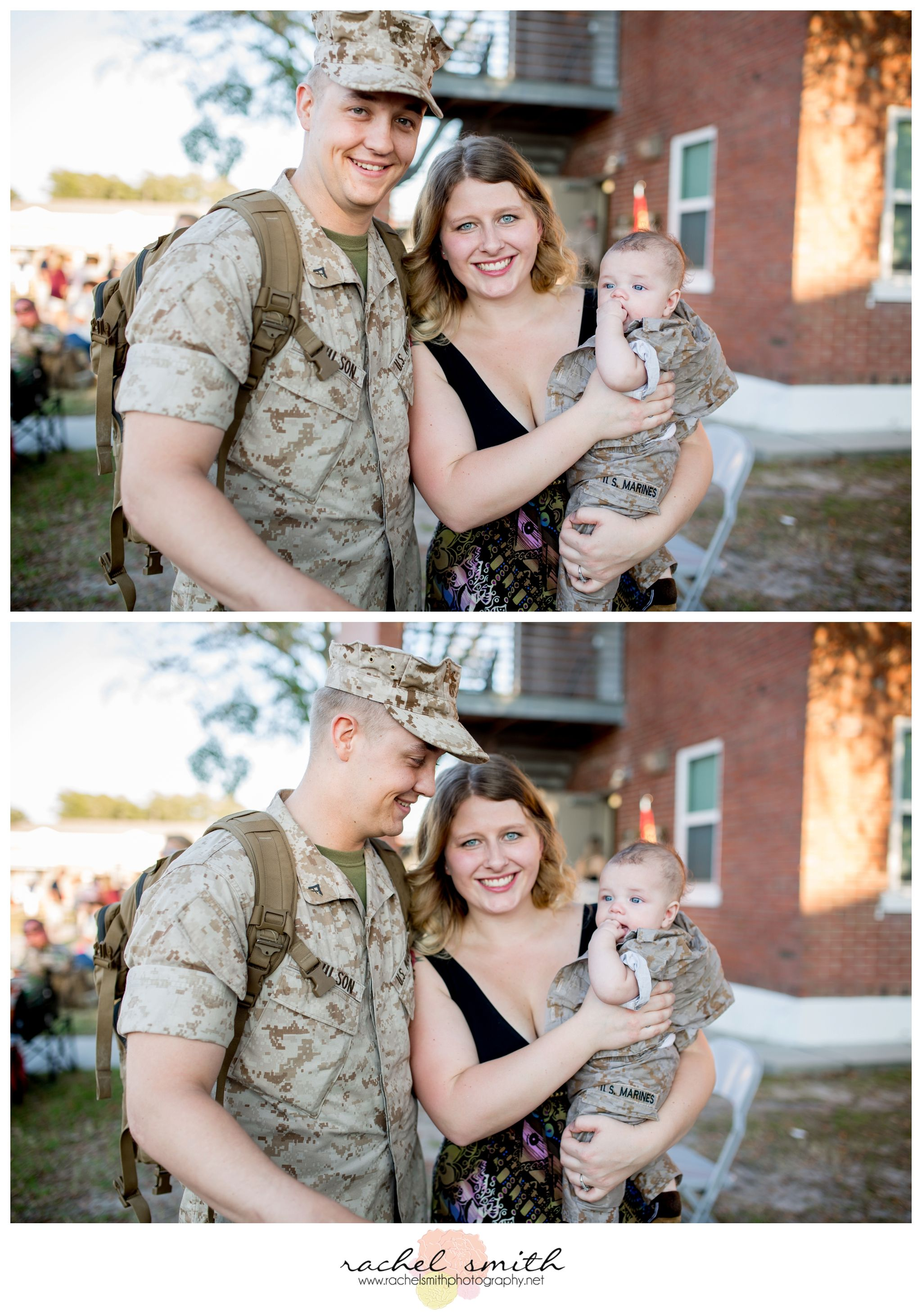 Military Homecoming, Marine Corps Homecoming, Camp Lejeune NC, Military, Rachel Smith Photography, Jacksonville NC Homecoming Photographer, daddy meets baby boy for first time
