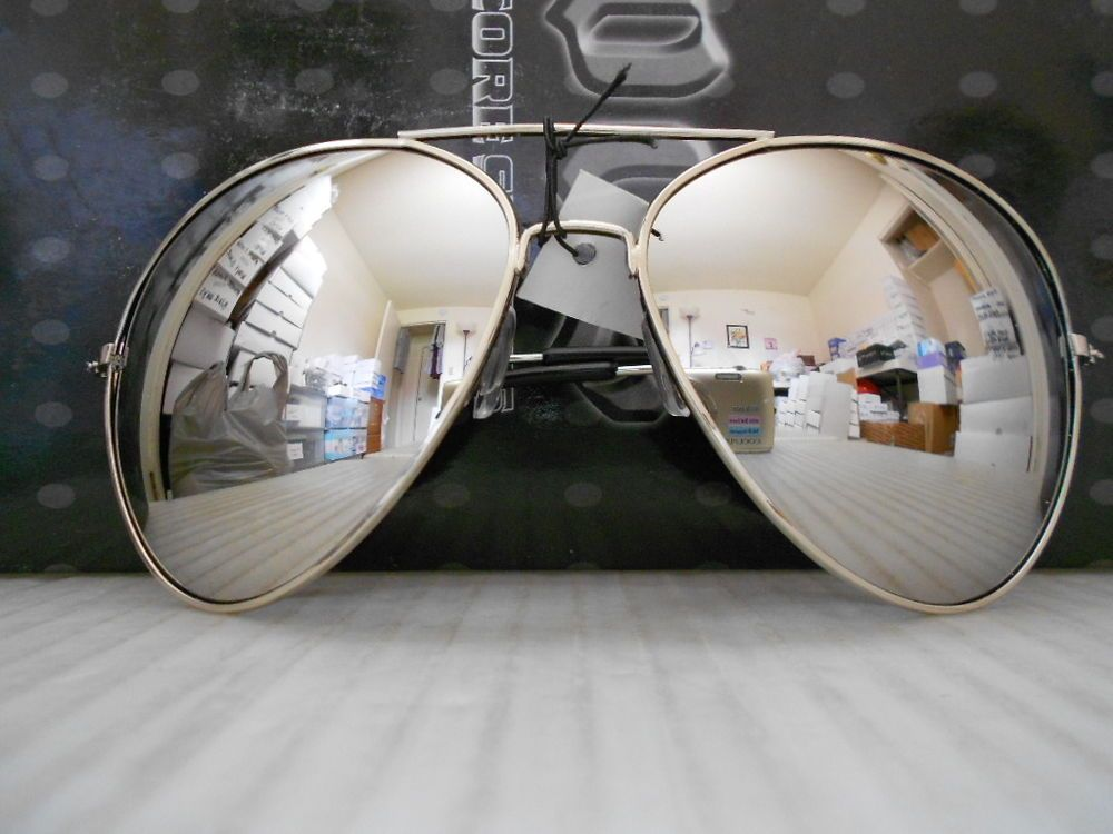 Aviator Sunglasses Extra Large Silver Mirrored Lenses Over