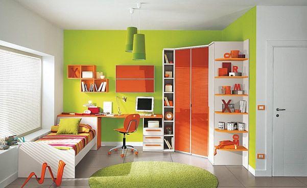 breathtaking green bedroom walls white furniture | Colorful Children Bedroom for Creative Children's Growing ...