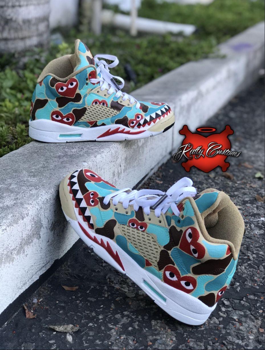 "Custom Air Jordan 5 (V) – ""Comme des"