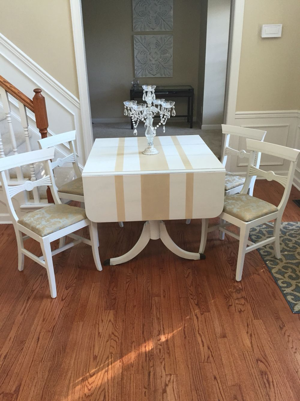 Duncan Phyfe Table Makeover With Images Painted