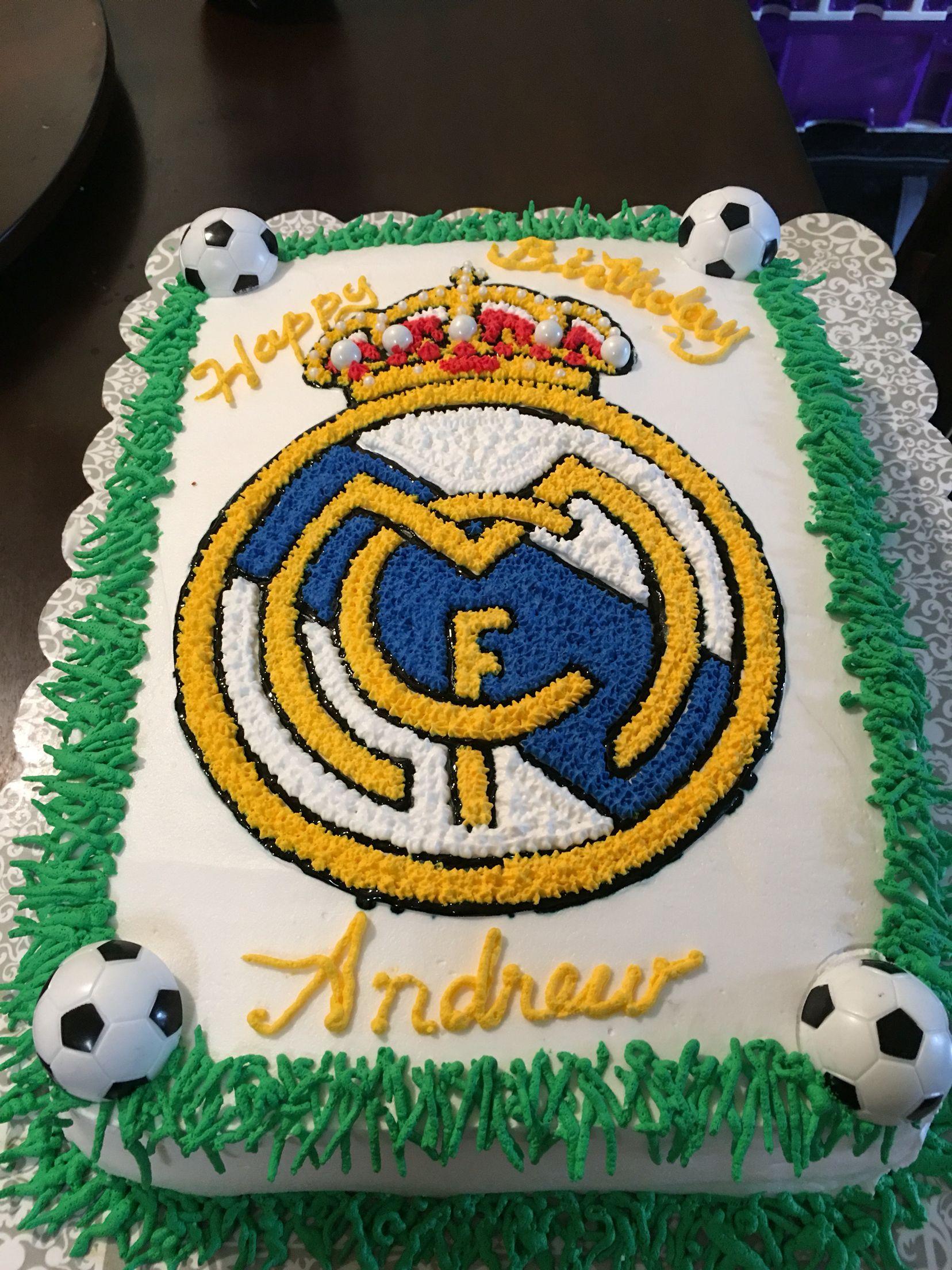Real Madrid Cake Sweet Princess Cakes Pinterest Real Madrid - Real birthday cake images