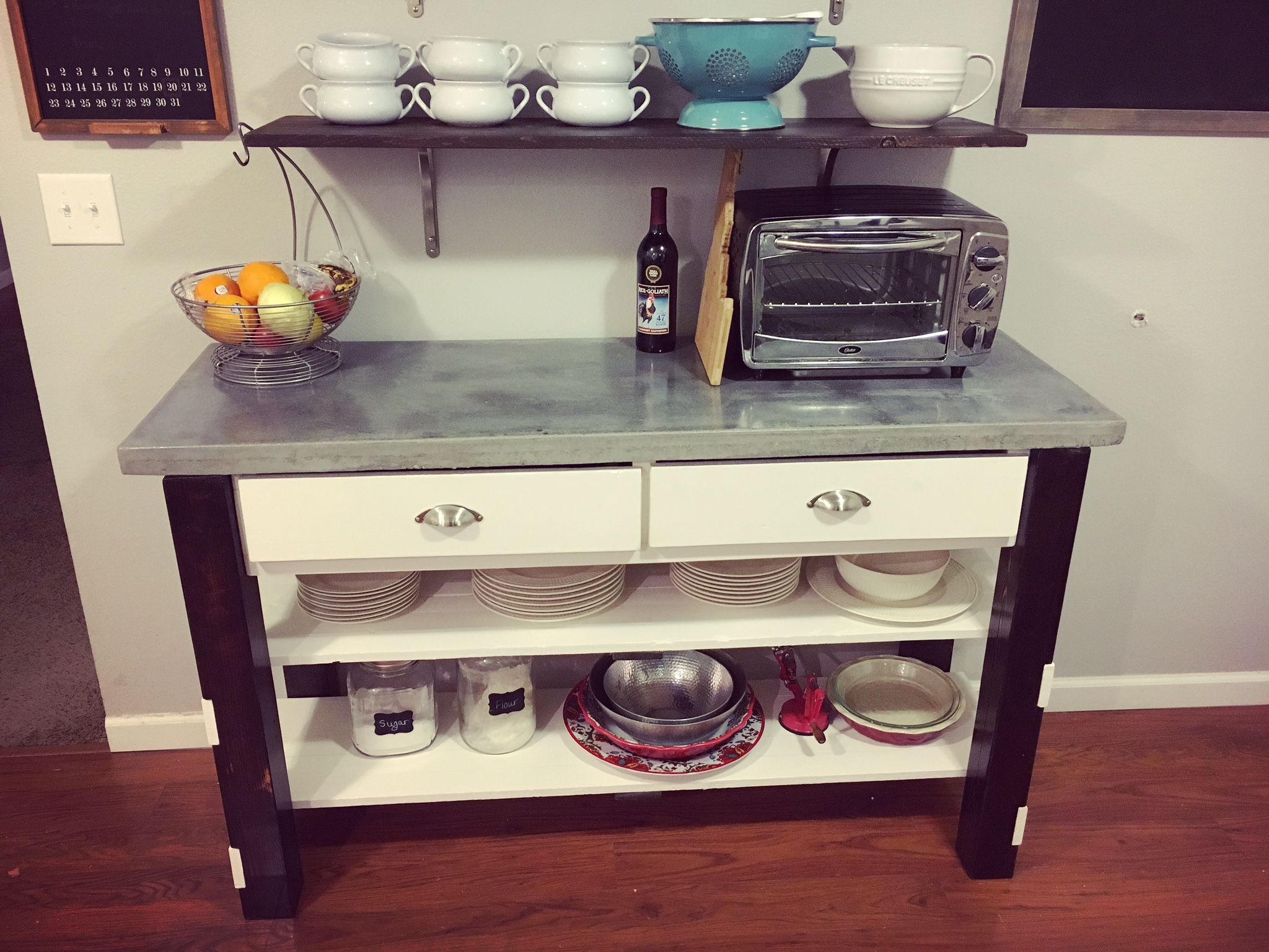 concrete top variation do it yourself home projects from ana white diy dining room home on do it yourself kitchen organization id=20017