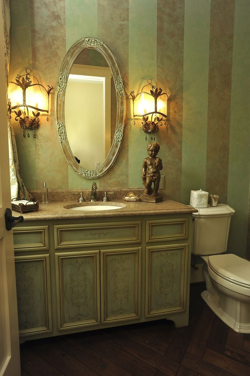 best powder rooms | powder room vanity cabinet with flat panel