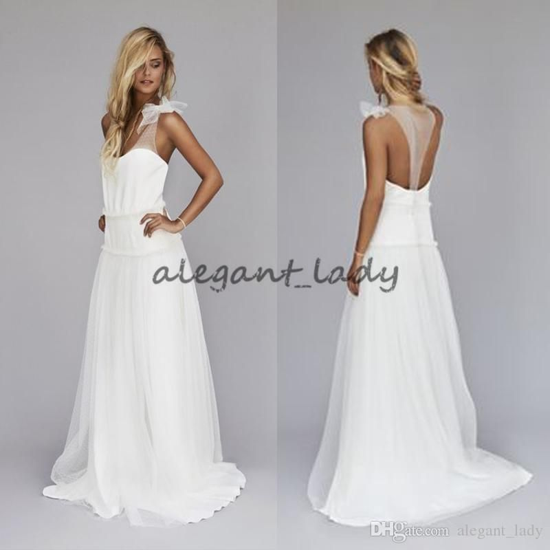 4f26edeeac Vintage 1920s Beach Wedding Dresses Cheap Dropped Waist Bohemian V ...