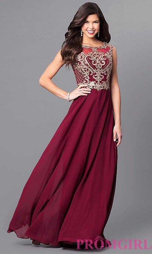 Long Prom Dress with Lace Appliques by Elizabeth K