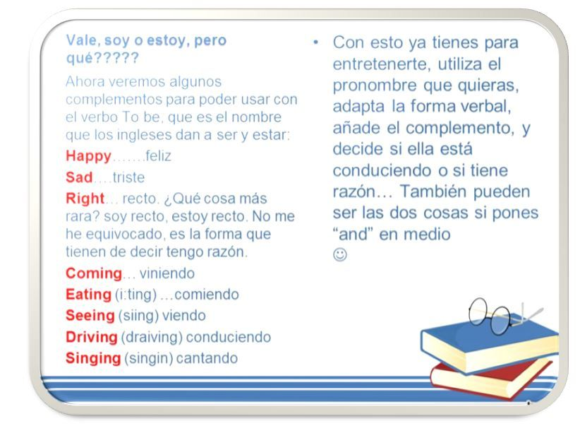 Ser Y Estar En Ingles To Be Ingles Estudiar Inglés Clase De Inglés