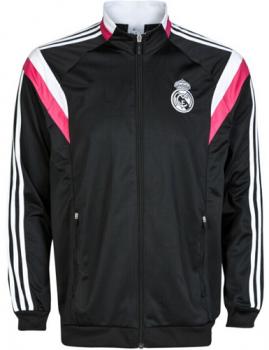 REAL MADRID CF 2014-2015 Season BLACK ANTHEM JACKET  1409070242 ... 7bcd6ccee3a79