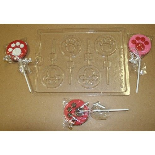 Paw Prints Lollipop Candy Mold