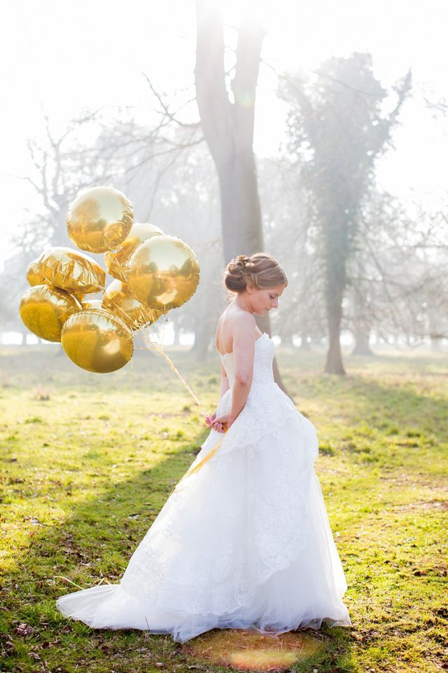 Balloons Bride Creative Crafty Luxe Glitter Gold Wedding http://www.katherineashdown.co.uk/