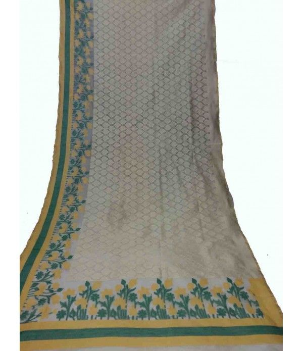 Wedding White Sarees Online: Off White Banarasi Handloom Tissue Net Saree
