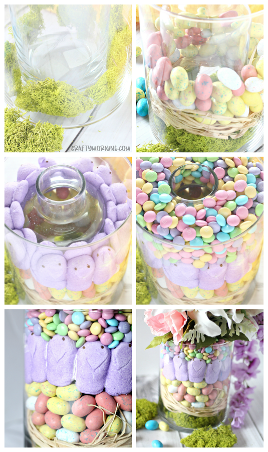 Easter Peeps Centerpiece Easter Peeps Candy Centerpieces Easter Crafts Diy