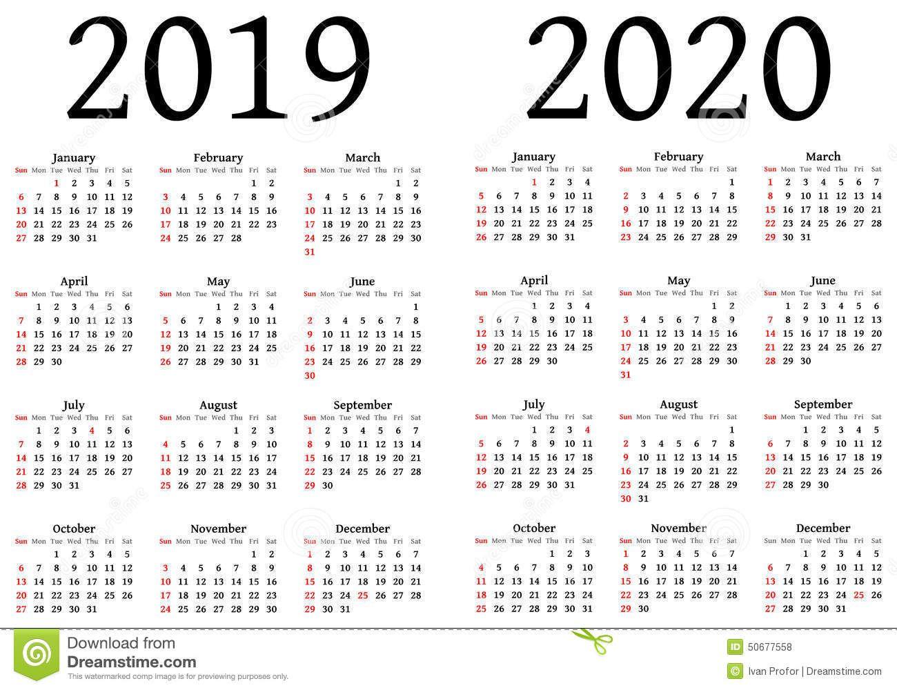 Printable Calendar 2019 2020.2019 Yearly Calendar Free Download 2018 Calendar