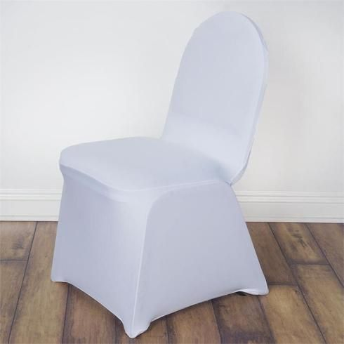 160GSM White Stretch Spandex Banquet Chair Cover With Foot ...