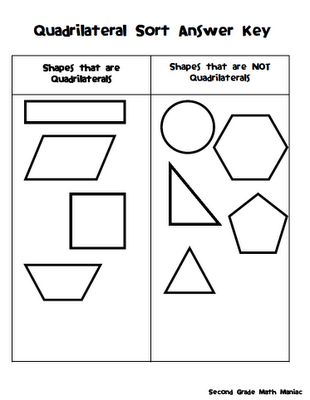 Quadrilateral Cut & Paste (downloaded) - Second Grade Math Maniac ...