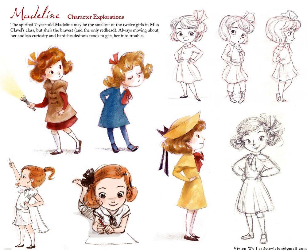 Madeline Ludwig Bemelmans Visual Development Vivien Wu Children S Book Il Character Illustration Character Design Inspiration Illustration Character Design